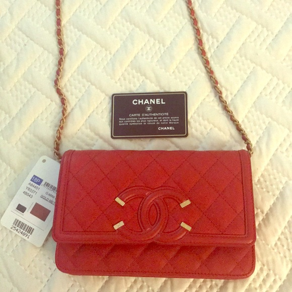 Chanel Red Quilted WOC c9fea549d4f39
